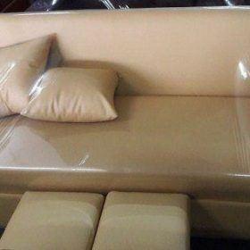 Thanh lý Ghế sofa đơn dài màu kem